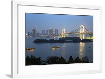 Rainbow Bridge from Odaiba, Tokyo, Japan, Asia-Stuart Black-Framed Photographic Print