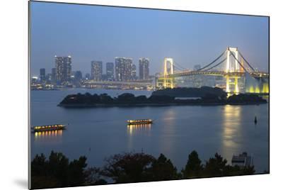 Rainbow Bridge from Odaiba, Tokyo, Japan, Asia-Stuart Black-Mounted Photographic Print