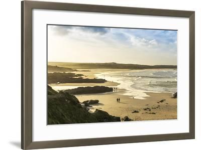 Sunrise at Gwithian Beach, Cornwall, England, United Kingdom-Mark Chivers-Framed Photographic Print