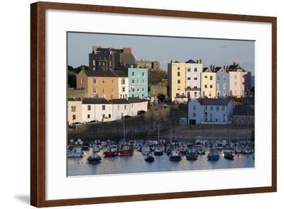 View over Harbour, Tenby, Carmarthen Bay, Pembrokeshire, Wales, United Kingdom, Europe-Stuart Black-Framed Photographic Print