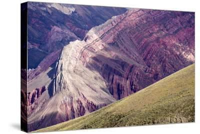 Multi Coloured Mountains, Humahuaca, Province of Jujuy, Argentina-Peter Groenendijk-Stretched Canvas Print