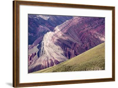 Multi Coloured Mountains, Humahuaca, Province of Jujuy, Argentina-Peter Groenendijk-Framed Photographic Print