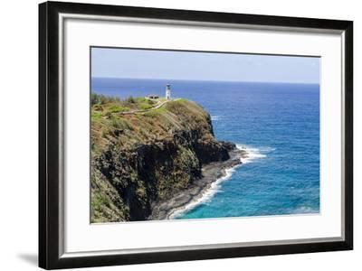 Historic Kilauea Lighthouse on Kilauea Point National Wildlife Refuge-Michael DeFreitas-Framed Photographic Print