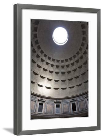Interior View of the Cupola Inside the Pantheon, Piazza Della Rotonda, Rome, Lazio, Italy-Stuart Black-Framed Photographic Print