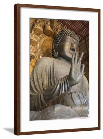 Daibutsu (Great Buddha) (Vairocana) Inside the Daibutsu-Den Hall of the Buddhist Temple of Todai-Ji-Stuart Black-Framed Photographic Print