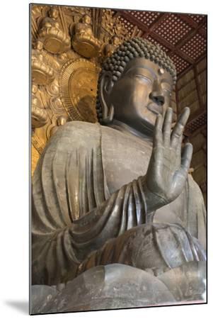 Daibutsu (Great Buddha) (Vairocana) Inside the Daibutsu-Den Hall of the Buddhist Temple of Todai-Ji-Stuart Black-Mounted Photographic Print