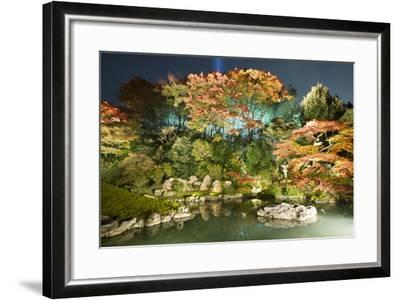 Night Illuminations of Temple Gardens, Shoren-In Temple, Southern Higashiyama, Kyoto, Japan-Stuart Black-Framed Photographic Print