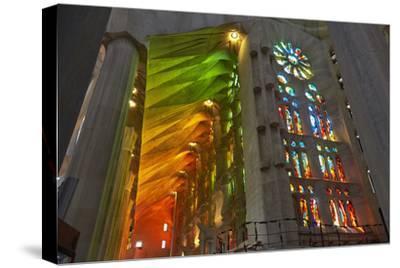Sagrada Familia, Barcelona, Catalonia, Spain-Mark Mawson-Stretched Canvas Print