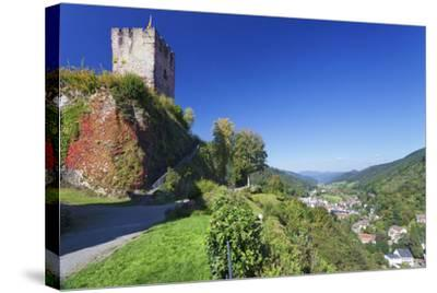 Hornberg Castle and View over Gutachtal Valley, Black Forest, Baden Wurttemberg, Germany, Europe-Markus Lange-Stretched Canvas Print