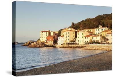 Marciana Marina at Sunset, Island of Elba, Livorno Province, Tuscany, Italy-Markus Lange-Stretched Canvas Print