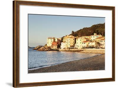 Marciana Marina at Sunset, Island of Elba, Livorno Province, Tuscany, Italy-Markus Lange-Framed Photographic Print