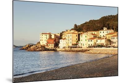 Marciana Marina at Sunset, Island of Elba, Livorno Province, Tuscany, Italy-Markus Lange-Mounted Photographic Print
