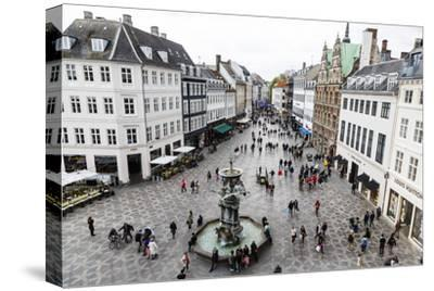 Stroget, the Main Pedestrian Shopping Street, Copenhagen, Denmark, Scandinavia, Europe-Yadid Levy-Stretched Canvas Print