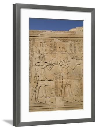 Bas-Reliefs on Walls, Temple of Haroeris and Sobek, Kom Ombo, Egypt, North Africa, Africa-Richard Maschmeyer-Framed Photographic Print