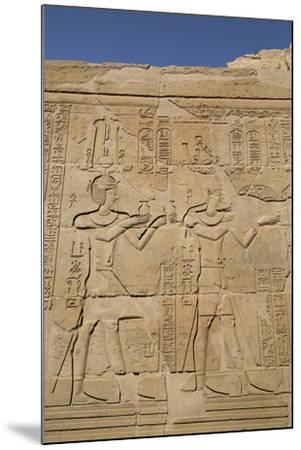 Bas-Reliefs on Walls, Temple of Haroeris and Sobek, Kom Ombo, Egypt, North Africa, Africa-Richard Maschmeyer-Mounted Photographic Print