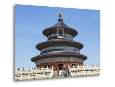 Hall of Prayer for Good Harvests, Temple of Heaven (Tian Tan), Beijing, China-Gavin Hellier-Metal Print