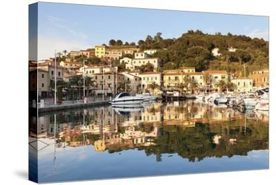 Harbour of Porto Azzurro, Island of Elba, Livorno Province, Tuscany, Italy-Markus Lange-Stretched Canvas Print