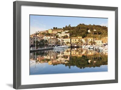 Harbour of Porto Azzurro, Island of Elba, Livorno Province, Tuscany, Italy-Markus Lange-Framed Photographic Print