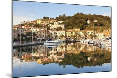 Harbour of Porto Azzurro, Island of Elba, Livorno Province, Tuscany, Italy-Markus Lange-Mounted Photographic Print