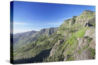 Mirador De Roques, Degollada De Agando, La Gomera, Canary Islands, Spain, Europe-Markus Lange-Stretched Canvas Print