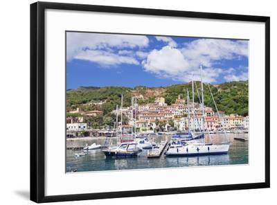 Harbour, Rio Marina, Island of Elba, Livorno Province, Tuscany, Italy, Mediterranean-Markus Lange-Framed Photographic Print