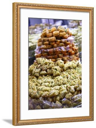 Baklava, an Arab Sweet Pastry at a Shop in the Old City, Jerusalem, Israel, Middle East-Yadid Levy-Framed Photographic Print