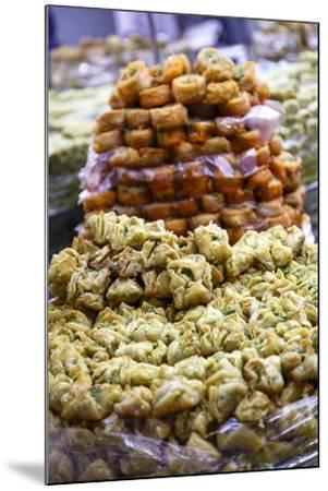 Baklava, an Arab Sweet Pastry at a Shop in the Old City, Jerusalem, Israel, Middle East-Yadid Levy-Mounted Photographic Print