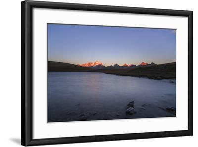 Sunset on Rossett Lake at an Altitude of 2709 Meters. Gran Paradiso National Park-Roberto Moiola-Framed Photographic Print