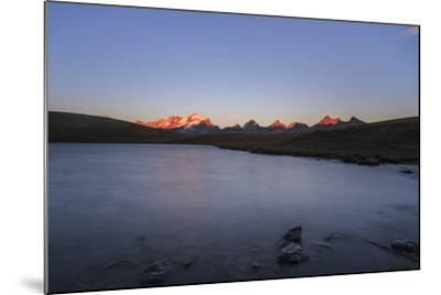 Sunset on Rossett Lake at an Altitude of 2709 Meters. Gran Paradiso National Park-Roberto Moiola-Mounted Photographic Print