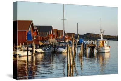 Boats and Timber Houses, Grebbestad, Bohuslan Region, West Coast, Sweden, Scandinavia, Europe-Yadid Levy-Stretched Canvas Print