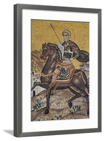 Mosaics on the Wall of St. George's Church, Madaba, Jordan, Middle East-Richard Maschmeyer-Framed Photographic Print