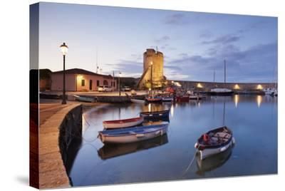 Port of Marciana Marina with Torre Pisana Tower-Markus Lange-Stretched Canvas Print