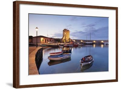 Port of Marciana Marina with Torre Pisana Tower-Markus Lange-Framed Photographic Print