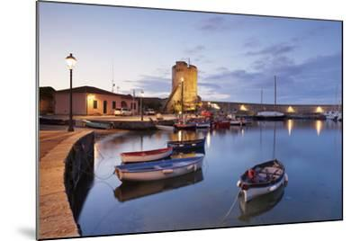Port of Marciana Marina with Torre Pisana Tower-Markus Lange-Mounted Photographic Print