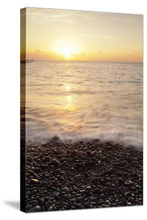 Sunset at Playa De Alojera Beach, Alojera, West Coast, La Gomera, Canary Islands, Spain, Atlantic-Markus Lange-Stretched Canvas Print