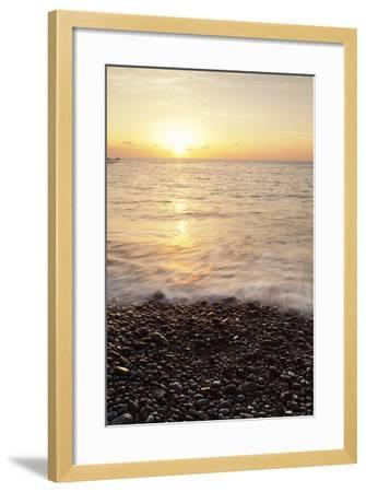 Sunset at Playa De Alojera Beach, Alojera, West Coast, La Gomera, Canary Islands, Spain, Atlantic-Markus Lange-Framed Photographic Print