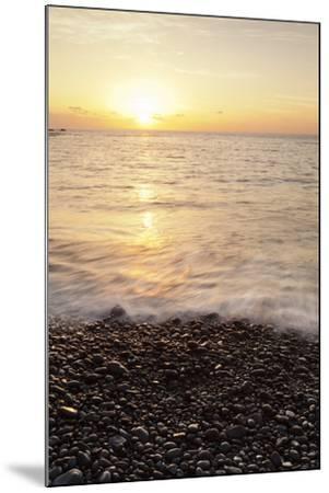 Sunset at Playa De Alojera Beach, Alojera, West Coast, La Gomera, Canary Islands, Spain, Atlantic-Markus Lange-Mounted Photographic Print