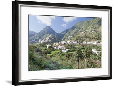 Hermigua, Roques De San Pedro Rock, Terraecd Fields, La Gomera, Canary Islands, Spain, Europe-Markus Lange-Framed Photographic Print
