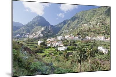 Hermigua, Roques De San Pedro Rock, Terraecd Fields, La Gomera, Canary Islands, Spain, Europe-Markus Lange-Mounted Photographic Print
