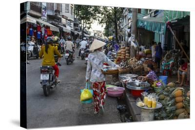 Can Tho Market, Mekong Delta, Vietnam, Indochina, Southeast Asia, Asia-Yadid Levy-Stretched Canvas Print