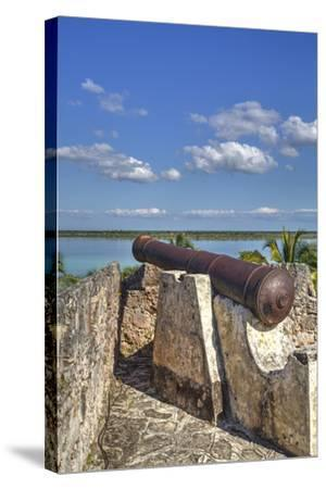 Old Cannon, Ramparts of San Felipe Fort, Built in 1733-Richard Maschmeyer-Stretched Canvas Print