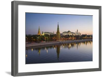 Kremlin Churches and Towers from Moscow River Bridge, Moscow, Russia-Gavin Hellier-Framed Photographic Print