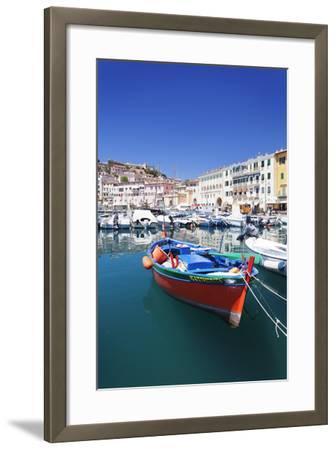 Harbour with Fishing Boats, Portoferraio, Island of Elba-Markus Lange-Framed Photographic Print