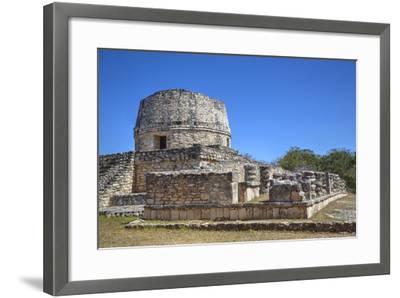 Templo Redondo (Round Temple), Mayapan, Mayan Archaeological Site, Yucatan, Mexico, North America-Richard Maschmeyer-Framed Photographic Print