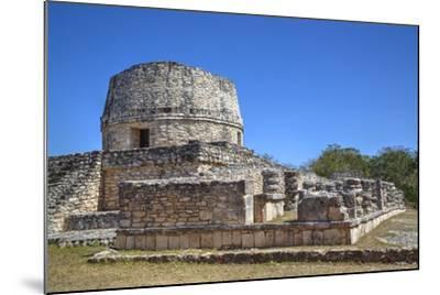 Templo Redondo (Round Temple), Mayapan, Mayan Archaeological Site, Yucatan, Mexico, North America-Richard Maschmeyer-Mounted Photographic Print