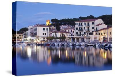 Harbour with Torre Della Marina, Marina Di Campo, Island of Elba, Livorno Province, Tuscany, Italy-Markus Lange-Stretched Canvas Print