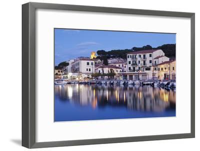 Harbour with Torre Della Marina, Marina Di Campo, Island of Elba, Livorno Province, Tuscany, Italy-Markus Lange-Framed Photographic Print