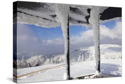 Hut at the Peak of Kandel Mountain in Winter, Black Forest, Baden-Wurttemberg, Germany, Europe-Markus Lange-Stretched Canvas Print