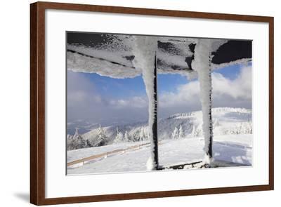 Hut at the Peak of Kandel Mountain in Winter, Black Forest, Baden-Wurttemberg, Germany, Europe-Markus Lange-Framed Photographic Print