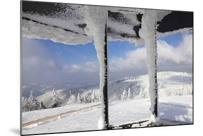 Hut at the Peak of Kandel Mountain in Winter, Black Forest, Baden-Wurttemberg, Germany, Europe-Markus Lange-Mounted Photographic Print